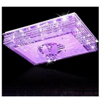 Best Rectangle blue clear crystal ceiling lamp beautiful glass ceiling light wholesale