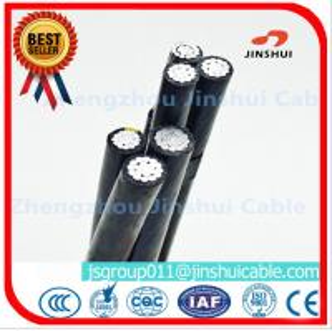 Best Middle Voltage Triplex Service Drop Wire Multiplex Cable Black / Yellow / Red Color wholesale
