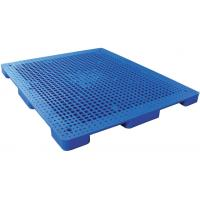 China Rackable reusable  Plastic Pallets recycling Nine - feet Perforated Flat Pallet on sale