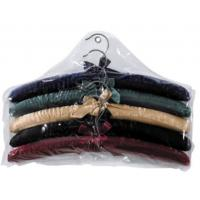 China more colors choice  for luxury Sponge Satin  cotton padded clothes hanger for girl and women on sale