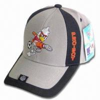Best Sports Cap with Back Velcro Closure, Logo Embroidery on Front and Peak wholesale