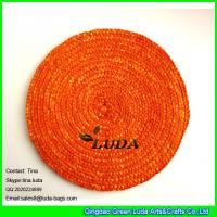 Best LUDA bamboo placemats wholesale natural wheat straw cup and table mats wholesale