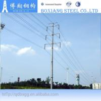 Best electric power transmission line tubular steel tower wholesale