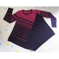 Best Diagonal Stripe Pullover Fashion Sweaters Expansion Hem Womens Pullover Sweaters wholesale