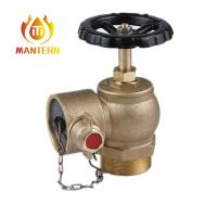 China Brass Handwheel Material Fire Fighting Equipment Screw Right Angle Valve on sale