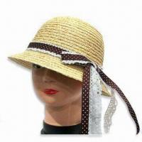 China Women's Hat, Made of Paper Straw, Eco-friendly, Suitable for Summer, Available in Various Colors on sale