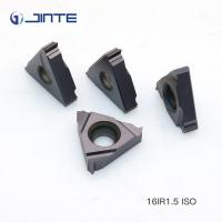 Machining Steel Cast Iron Carbide Threading Inserts 16ER 1.5ISO High Toughness