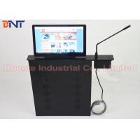 Best Conference Room Meeting Microphone Slim LCD Monitor Screen Motorized Lift 17.3 Inch 1080P Screen wholesale