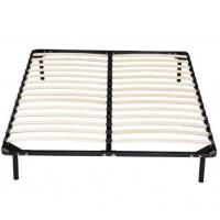 China High Strengthen Metal Bed Frame With Wooden Slats Detachable Style on sale