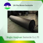 Best Black PP 136G Silt Film Woven Geotextile Circle Loom Grab Tensile 900N Roll Size 12.5'*432' wholesale