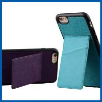 Best TPU Back Stand Cell Phone Leather Cases iPhone 6S Credit Card Slots Holder wholesale