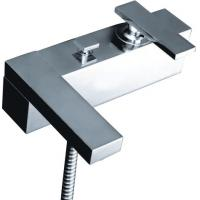 China Two Hole Flat Single Handle Mixer Taps For Bathtub , Wall Mounted Mixer Tap on sale