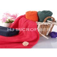 China Red Washable Microfiber Body Towels / Absorbent Bath Towels 70 x 140cm on sale