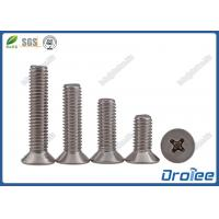 Best 304/A2/316 Stainless Steel Philips Countersunk Head Machine Screw wholesale