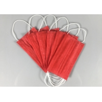 Best Anti Spray 3 Ply Red OEM Disposable Earloop Mask wholesale