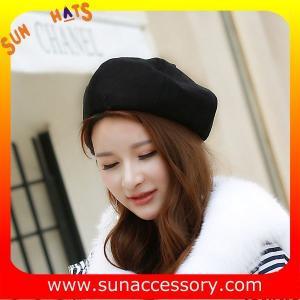 Best QF17070 Sun Accessory customized corduroy beret hat ,ladies beret hat wholesale