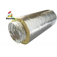 Best Insulated 10 HVAC Duct Insulation Wrap , Aluminum Foil Flexible Ventilation Ducting wholesale