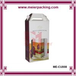 China corrugated cardboard wine box/Beautiful Design cardboard paper wine carrier box ME-CUR008 on sale