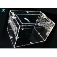 Best Professional Acrylic Reptile Box , Pet Plexiglass Storage Box ROHS Certified wholesale