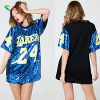 China Number 24 Ladies Sequin Dress / Blue Adults Sequin Hip Hop Dance Costumes on sale