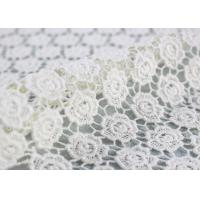 China Cotton Dying Lace Fabric Guipure French Venice Lace Wedding Dress Fabric Openwork on sale