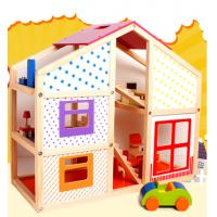 China Happy family doll house,baby wooden doll house,doll house toy on sale