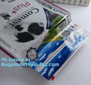 China dog food bag with slider closure,dog food packaging bag with closure, pet food packaging bag/dogs food bags manufacturer on sale
