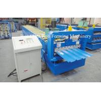 Best 3kw Blue Corrugated Roofing Sheet Roll Forming Machine With Chrome Plated wholesale
