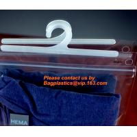 Best Disposable Laundry Bags , Vinyl Underwear Packing Hanger Hook Bags wholesale