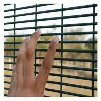 PVC Coated Wire Mesh Sheets , Steel Wire Garden Fence For Road Protection