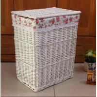China Wicker laundry basket willow laundry basket water cleaning round square customized dimension manufacturer on sale