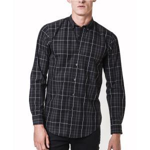 Best Cotton Street Style Mens Fashion Casual Shirts , Plain Long Sleeve Shirts Mens wholesale
