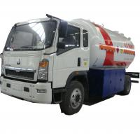Best hot sale!high quality SINO TRUK HOWO 10,000Liters lpg gas refilling truck, lpg gas truck for domestic gas cylinders wholesale