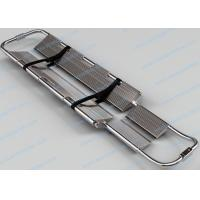 Best Stainless Steel Foldable Stretcher , Adjustable Length Scoop Emergency Stretcher wholesale