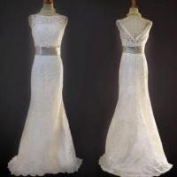 China Lace Open Back Wedding Dress, Various Sizes and Colors are Available  on sale