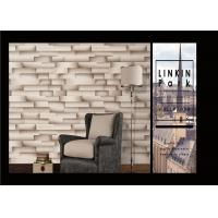 China Modern Removable 3D Brick Effect Wall Covering Waterproof For Living Room on sale