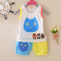 China Baby vest virgin suit summer cotton baby clothes owl vest 1 year baby clothing on sale