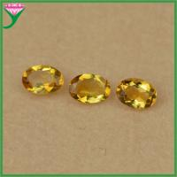 Best Factory wholesale natural citrine 5*7mm oval diamond cut yellow topaz stone price wholesale