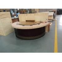 Best New Design Restaurant Teppanyaki Grill Table with Semi-circle Table Top Decoration wholesale