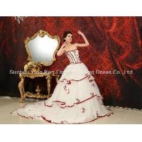 Best 2012 New Fashion Sweetheart Ball Gown Applique Beaded Tulle Satin Prom Dress (DB-066) wholesale