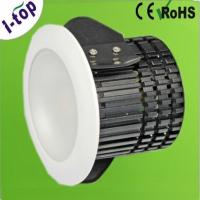China Aluminum Warm White Dimmable Recessed LED Downlight Bulb Fixtures 220V 10w 580LM on sale