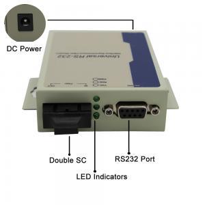 Best GM218SM-C20A/B Serial to Fiber Converter RS232 data to Fiber Converter Simplex SM 1310nm/1550nm 20KM SC wholesale