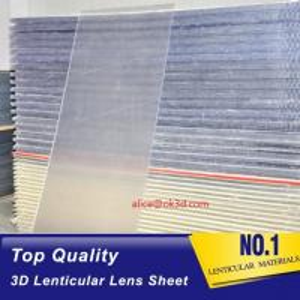Best OK3D sell 70LPI PET 0.9MM 60X80CM Lenticular Plastic lens for 3d lenticular printing by injekt print and UV offset print wholesale
