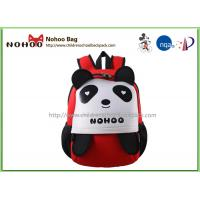 Buy cheap Red Baby Pupil Cartoon Panda Kids Travel Backpack Personalized Water Resistant from wholesalers