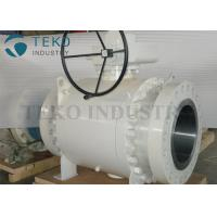 Best Worm Gear Operated Flanged Ball Valve  /  Trunnion Mounted Three Piece Ball Valve 150~2500Lb wholesale