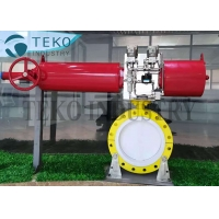 Best Flanged End Teflon Lined PTFE Butterfly Valve For Chemical wholesale
