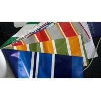 Best Striped Fire Retardant Tarpaulin PVC Laminates TL550 Hot Melt Coating wholesale