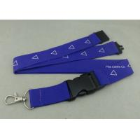 Best Factory Customized Sublimation Printing Promotional Lanyards , Polyester Material With Breakaway Buckle wholesale
