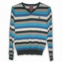Best Men's V-neck Pullover in Fashionable Style, Made of 100% Cotton wholesale