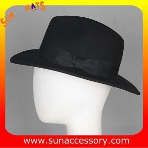 Best T0061197 Sun Accessory customized  winner  fashion 100% wool felt fedora hats, unisex hats and caps wholesaling wholesale